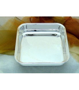 Ciotola Quadra Bordino in Silver