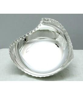 Ciotola Bordo Pallinato in Silver