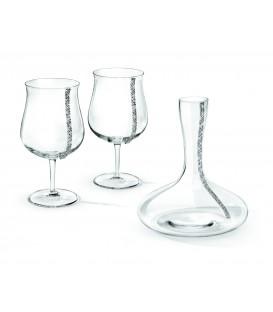 Decanter in Cristallo con bicchieri