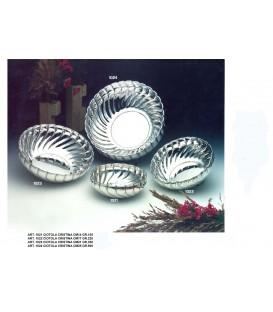 Ciotola Bombata Liscia in Silver