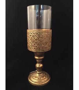 Candeliere Oro con Vetro